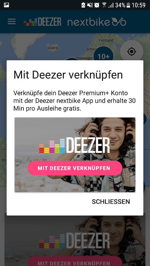 Deezer nextbike- screenshot