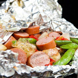 Smoked Turkey Sausage Foil Pack