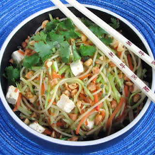 Spicy Thai Noodles with Tofu.