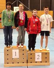 Photo: Alsace 2014 Double Mixte Benjamins Médaille d'Or: Margot Tailfer