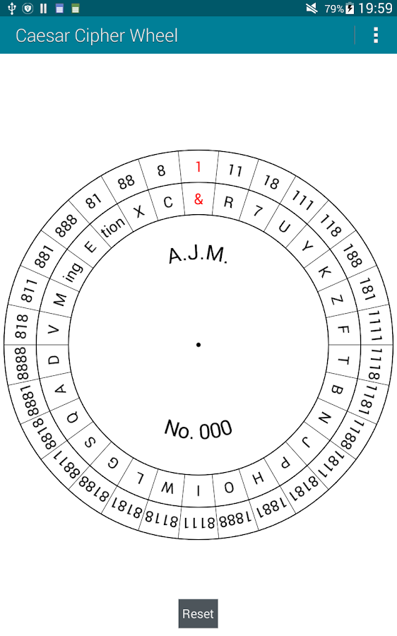 Caesar Cipher Wheel- screenshot