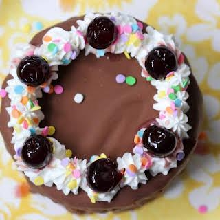 Brownie Cheesecake Ice Cream Cake.