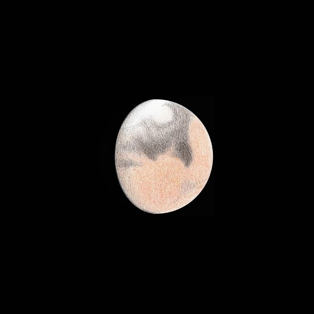 Photo: Mars le 26 avril 2018, à 6h08 HL. T406 à 470X en bino, avec et sans filtre rouge. Turbu moins forte que lors des observations précédentes.
