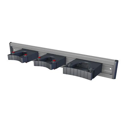 Toolflex Aluminiumskena 50cm med tre hållare