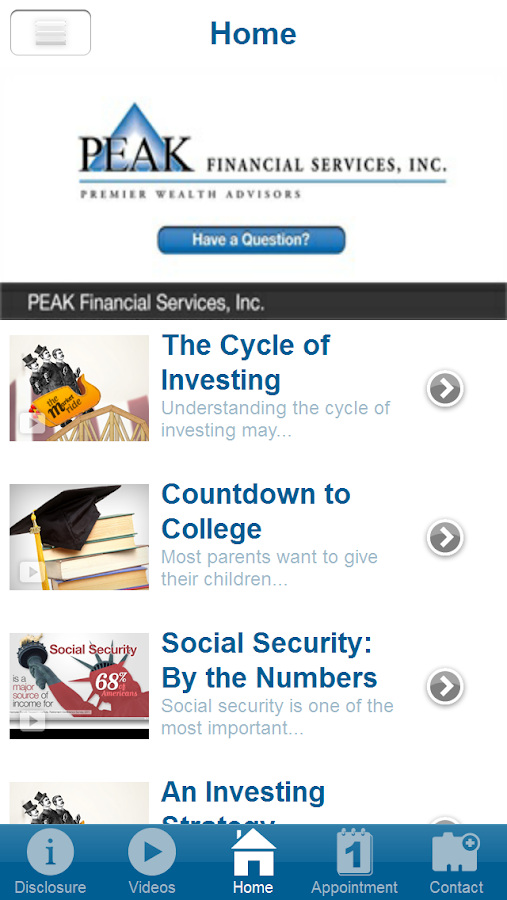 PEAK Financial Services, Inc.- screenshot