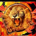 Golden Flaming  Lion Keyboard Theme icon