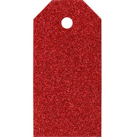 Manillamärken 5x10cm röd 15st