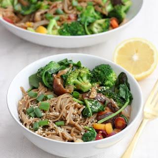 Vegan Buckwheat Noodle Stir-Fry