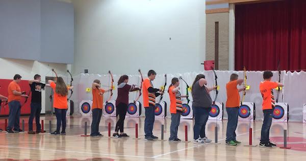 Knox County Archery Teams at Corbin Snowball Shoot