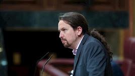Iglesias, durante su intervención en el Debate de Investidura.
