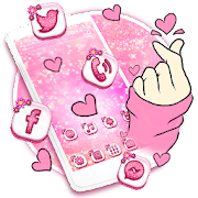 Bling Love Heart Launcher Theme Live HD Wallpapers