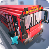 Mr. Blocky School Bus Simulator 2018