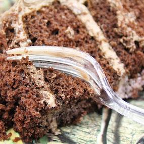Baby Shower Cake by H Scott Burd - Food & Drink Candy & Dessert ( cake closeup fork )
