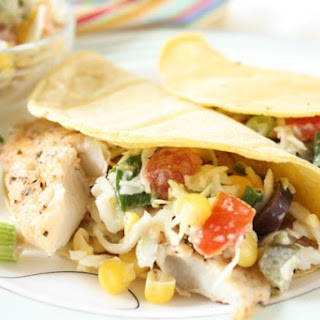 Fish Tacos with Southwestern Cole Slaw.