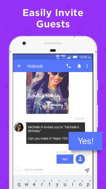 Hobnob Invitations: Invitation Maker & Text RSVP- screenshot