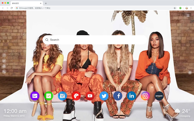 Little Mix New Tab Page HD Singer Themes