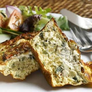 Crustless Spinach Quiche.