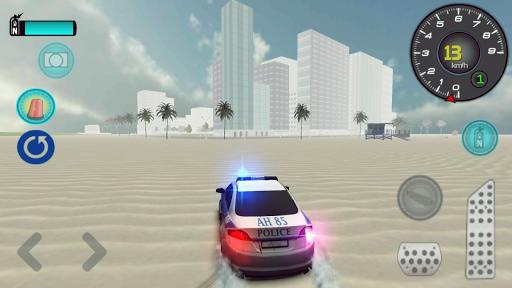 Polis Arabası Oyunu 3D