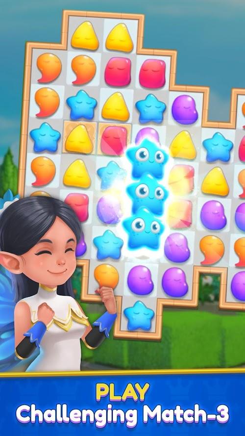 Screenshot 3 Royal Garden Tales - Match 3 Castle Decoration 0.7.7 APK MOD