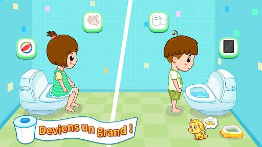 Aux toilettes - Propreté bébé fond d'écran 2