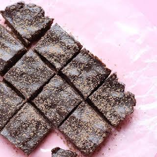 3 Ingredient No Bake Vegan Brownies.
