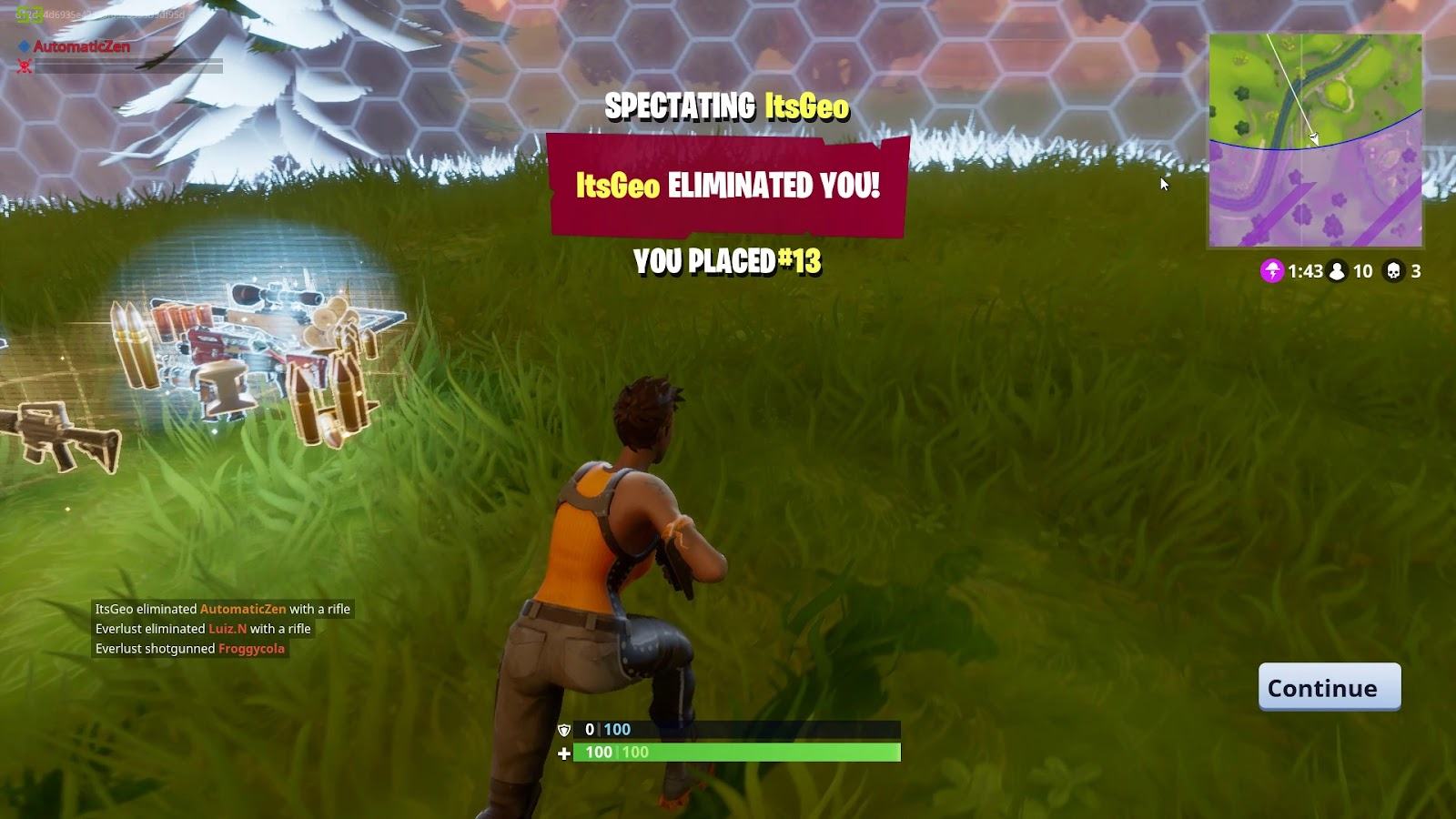 How to spectate in Fortnite Mobile