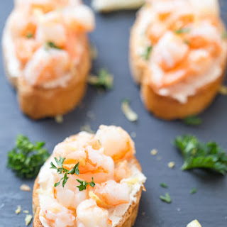 Shrimp Scampi Crostini.