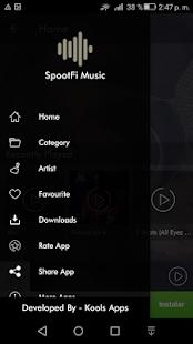 SpootFi Music - náhled