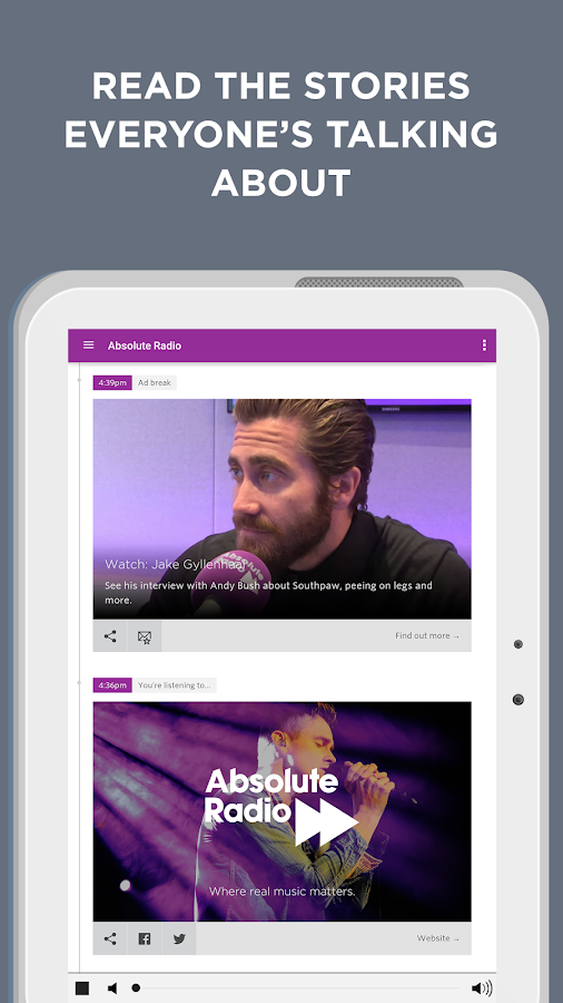 Absolute Radio- screenshot