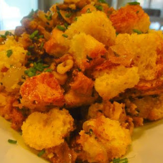 Herbed Brioche Stuffing With Fig & Walnut