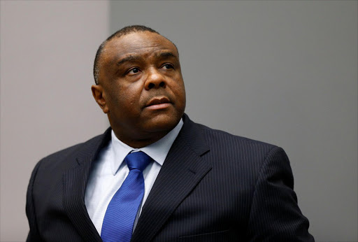 Jean-Pierre Bemba of the Democratic Republic of Congo sits in court at the International Criminal Court in The Hague, on Tuesday. Picture: REUTERS/MICHAEL KOOREN