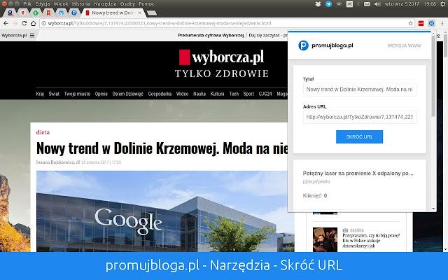 promujbloga.pl - Narzędzia - Skróć URL