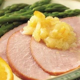 Slow-Cooker Pineapple-Orange Glazed Ham.
