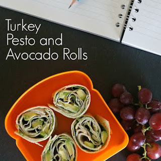 Turkey Pesto and Avocado Rolls.