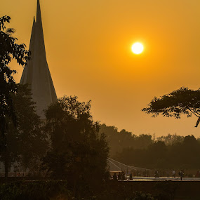 National Monuments of Bangladesh by Qamrul Hassan Shajal - Buildings & Architecture Statues & Monuments ( canon eos 60dnational monument  qamrul hassan shajal bangladesh photography sunset peoples )