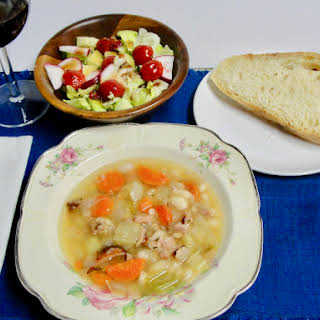 Ham And Great Northern Bean Soup.