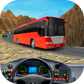 Offroad Bus Driving Uphill Monster Mountain 3D Sim
