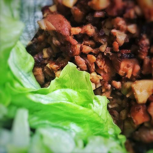 chinese, duck, Duck Bone, leftover, Lettuce Wraps, mince, recipe, Soup, 一鴨兩味, 鴨鬆, 生菜包, 鴨骨湯
