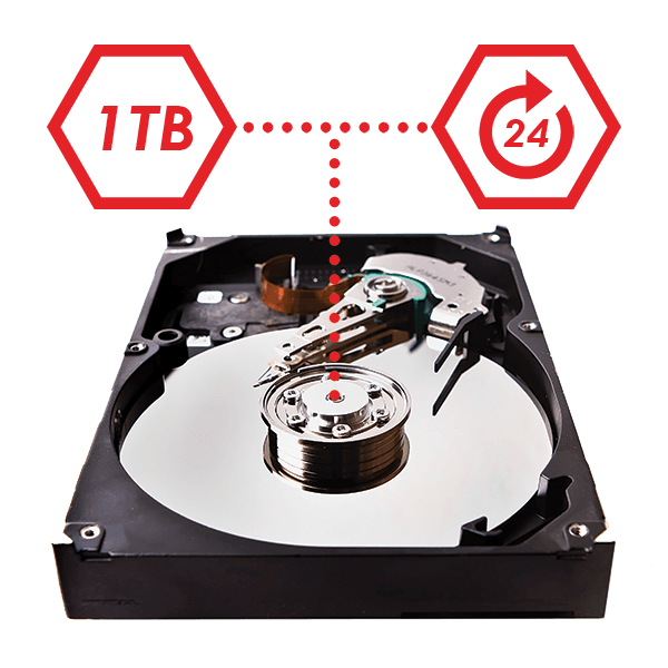 24/7 Security certified hard drive for security systems