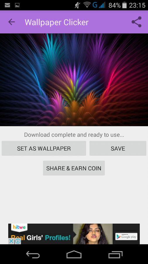 Wallpaper Clicker- screenshot