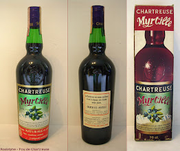 Photo: Chartreuse Myrtille, pour ceux qui l'aime fruitée ! Ce produit, révolu comme son homologue à l'orange, est à distinguer de l'actuelle liqueur de myrtille.  (merci à Rodolphe)