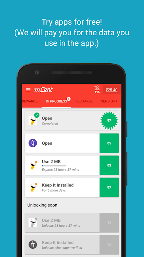 mCent - Free Mobile Recharge screenshot 2