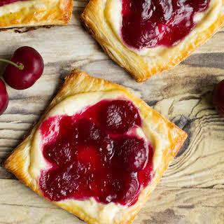 Cherry Cheese Danishes.