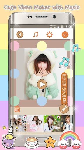 Kawaii Video Editor with Cute Stickers for Photos screenshots 2