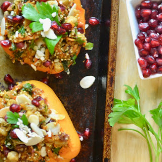 Moroccan Style Quinoa Stuffed Peppers