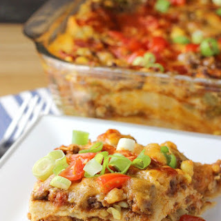 Mexican Lasagna with Corn Tortillas.