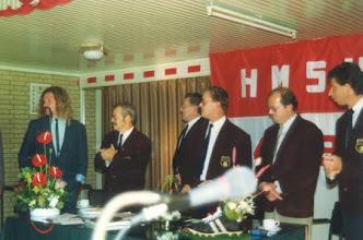 Photo: Bestuur H.M.S.H. bij het 50-jarig bestaan.