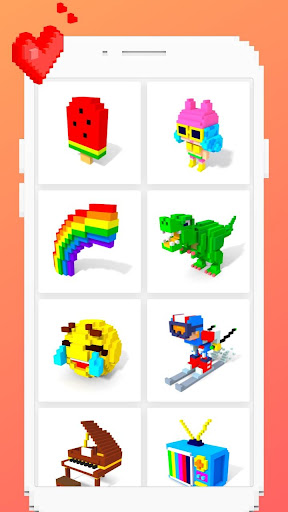 Voxel - 3D Color by Number & Pixel Coloring Book 2.4 screenshots 2