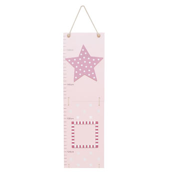 Growth chart star pink