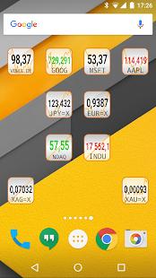 Akcie mikro widget - náhled